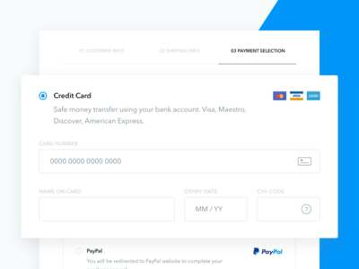 3 Step Checkout Process UI Kit fo Sketch