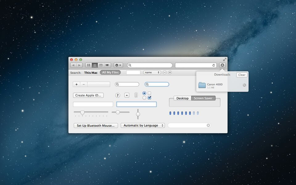 Free Mountain Lion UI Kit for Sketch