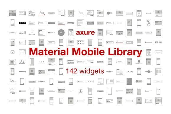 Material Mobile Library for Axure