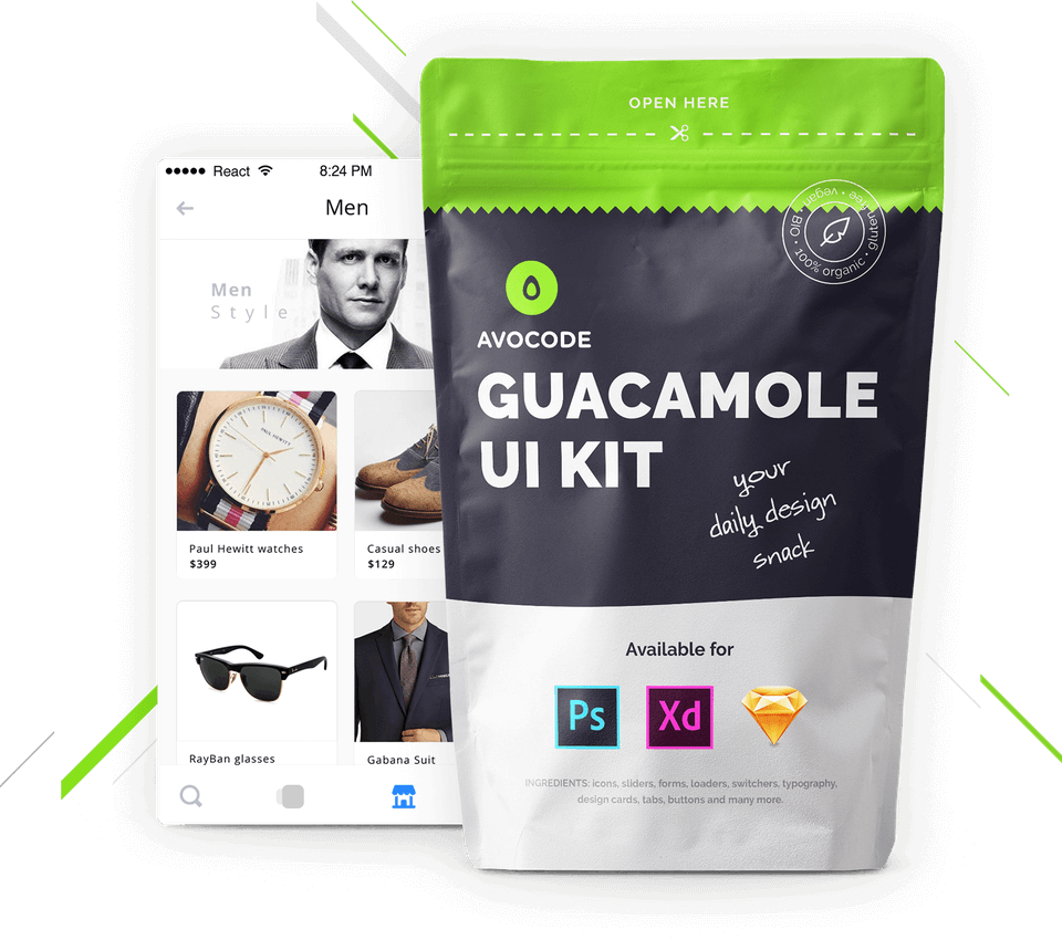 GUACAMOLE Photoshop UI KIT
