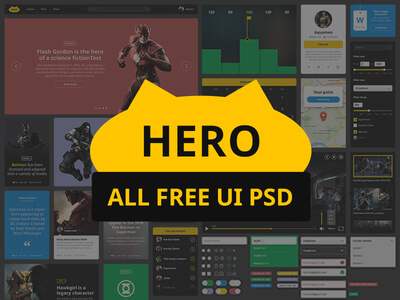 Hero UI Photoshop Kit