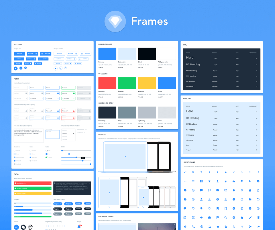 Frames UI Kit for Sketch