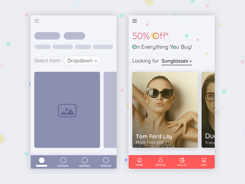 Product Home Screen UI Kit for Sketch