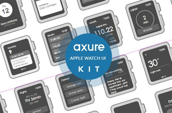 Apple Watch Widget Library for Axure