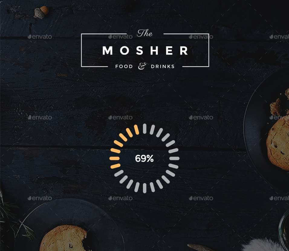 Mosher Restaurant Mobile App Photoshop UI Kit