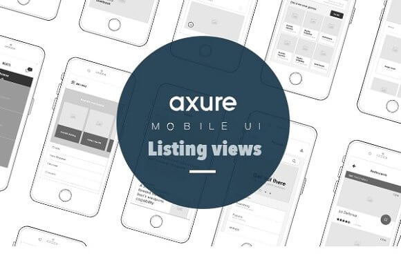 Axure Mobile UI Library for listings