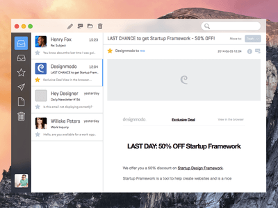 Sparrow Yosemite Sketch UI Kit
