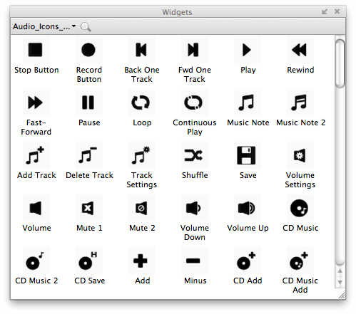 Axure Audio Icons Widgets Library