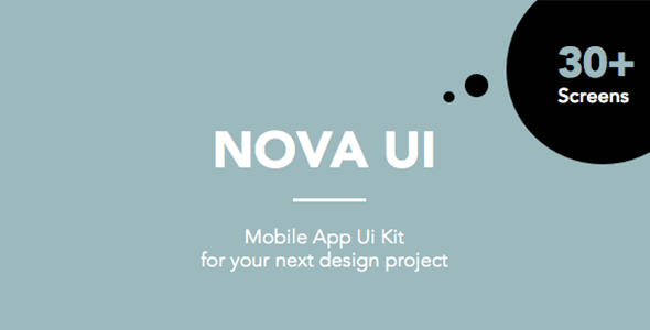 Nova UI Kit for Sketch