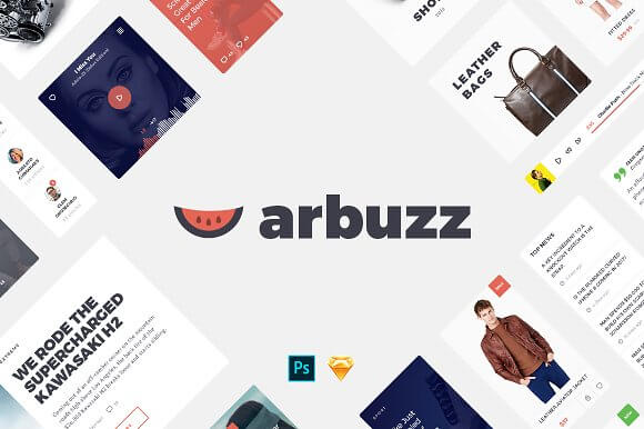 Arbuzz UI Kit for Sketch