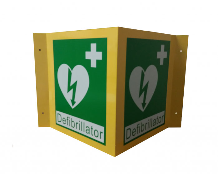 3D AED Wall Sign (Large)