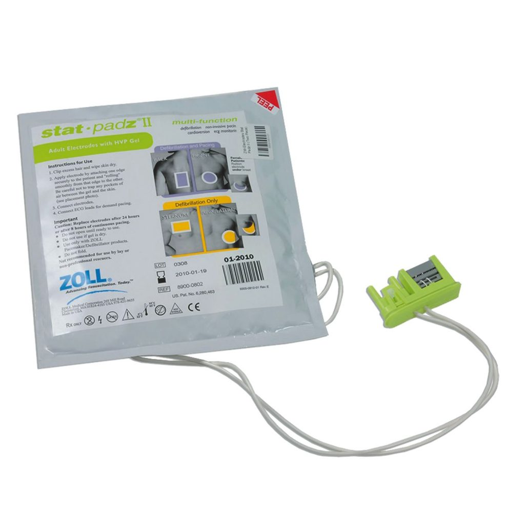 ZOLL AED Plus or AED Pro Defibrillator Stat Padz II for Adults(No CPR feedback)