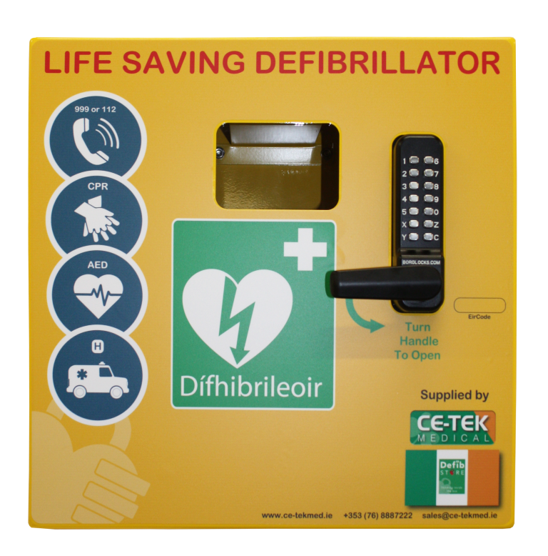 Defib Store 1000 Stainless Steel Cabinet with Keypad Lock