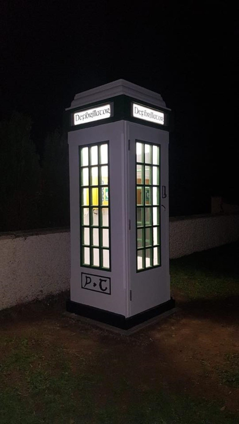 Installation of Phonebox, Ce-Tek Medical Cabinet and Defibrillator