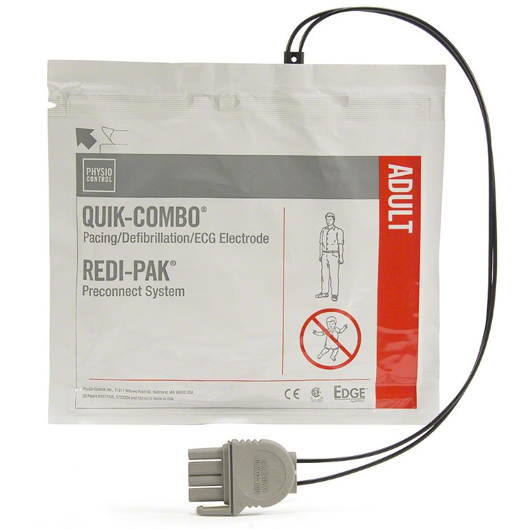 LifePak 15 Quik-Combo Electrodes with Redi-Pak Pre-Connect System