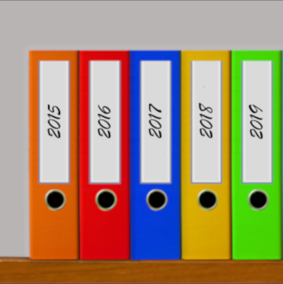 colorful organizing binders