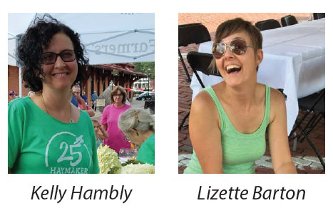 Kelly Hambly and Lizette Barton, contributors for aroundKent Magazine
