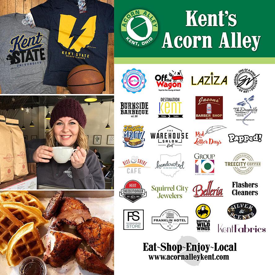 Kent's Acorn Alley. Ad design by aroundKent Magazine