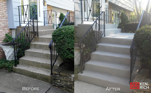 before and after ardex concrete overlayment by ken-rich