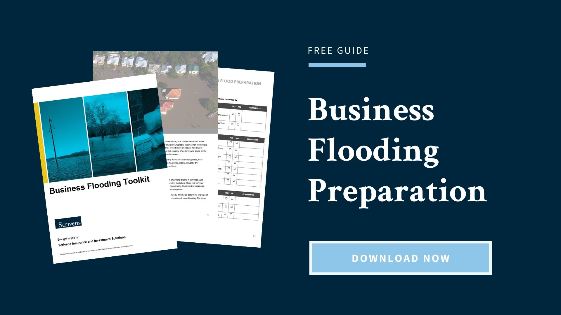 Download the Business Flooding Preparation Guide for Free
