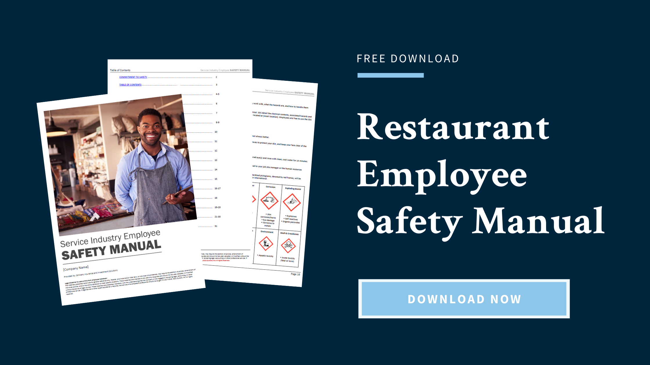 Free Download: Restaurant Employee Safety Manual (Click to download)