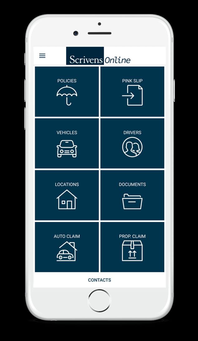 Scrivens Online Mobile App