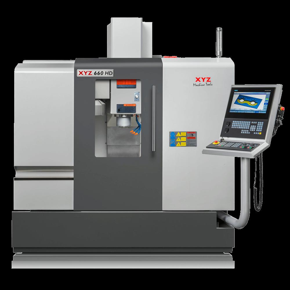 Koersen xyz: 660 x 450 x 500 mm, 10000 omw/min spindel, Netto machinegewicht 3400Kg