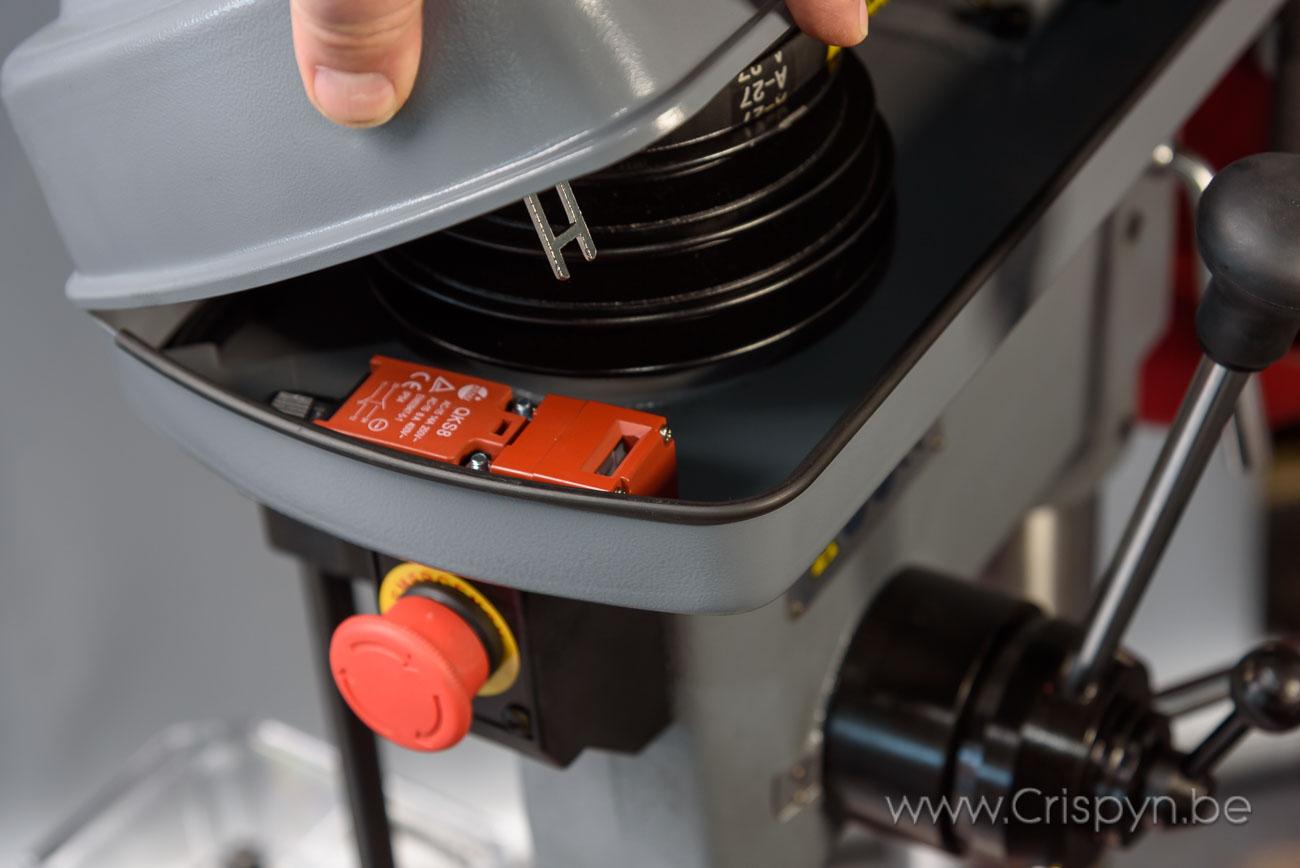 Kolomboormachine, V-snaar aandrijving,boren tot 22mm,230V monofasig 1,1kW
