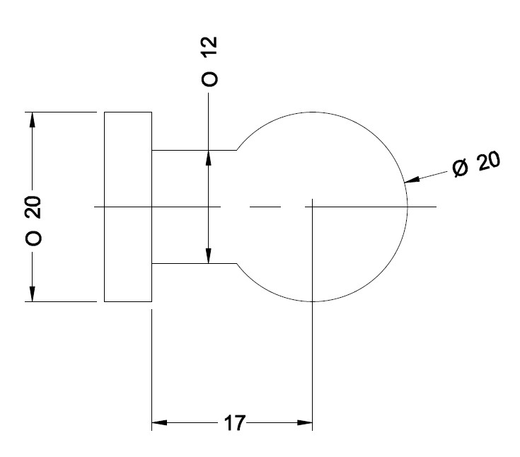 En bol (of een radius) programmeren op de RLX of SLX