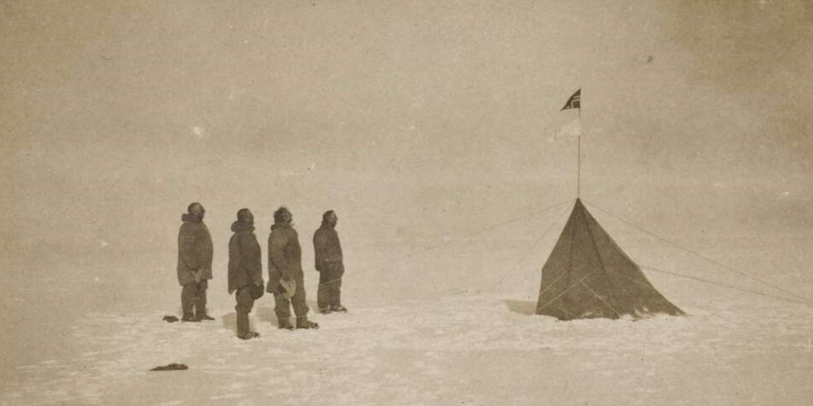 Amundsen at the Geographic South Pole
