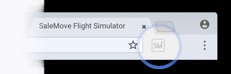 SaleMove Flight Simulator step 1