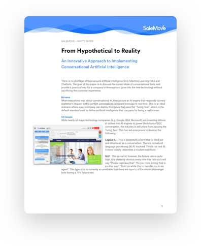 White Paper Chatbots: From Hypothetical to Reality
