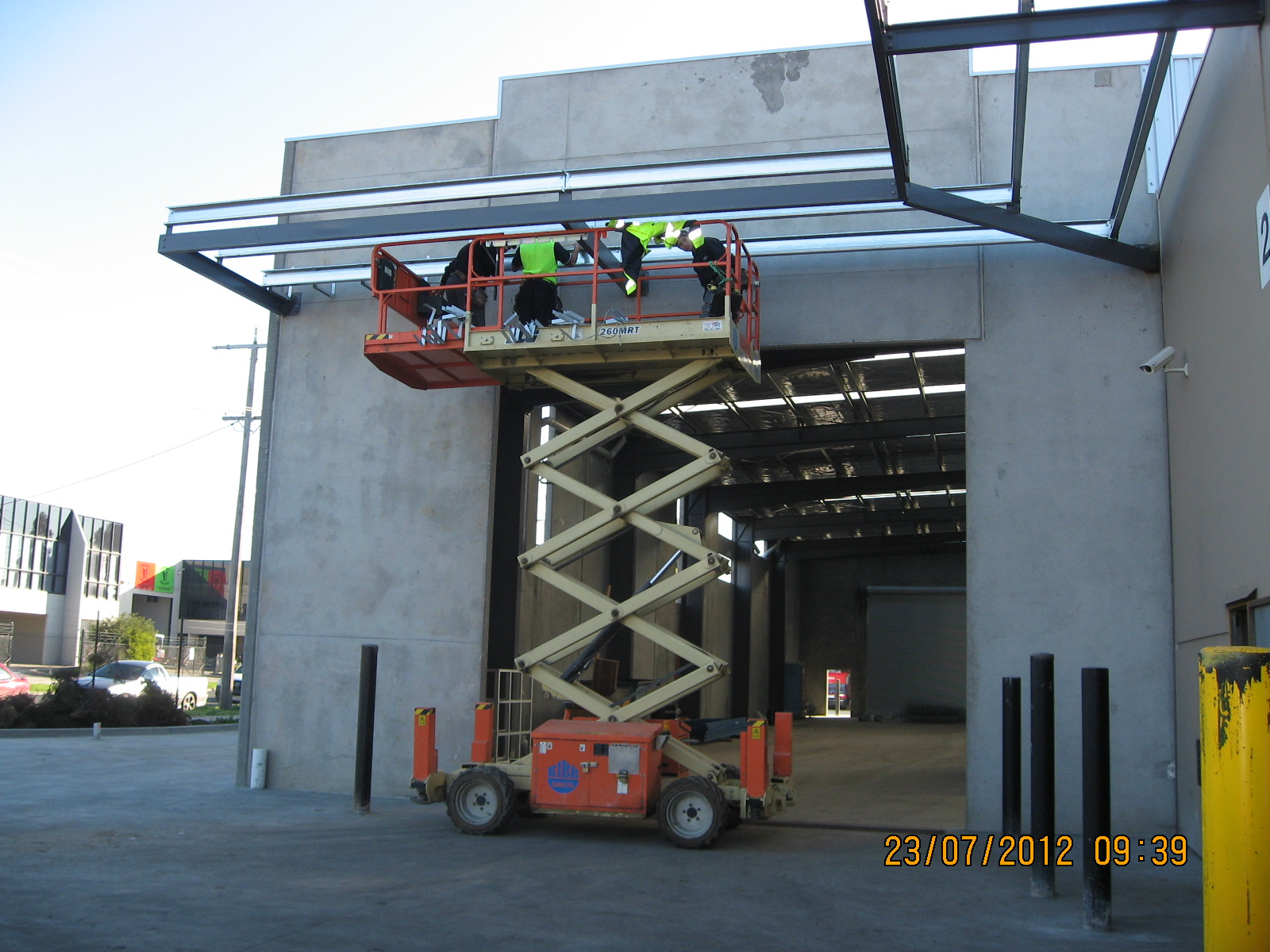 R.M. Turbochargers factory construction fascia installation