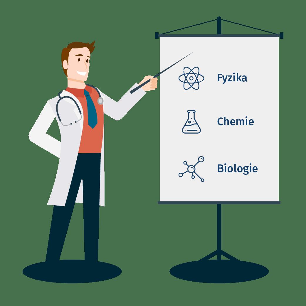 Přípravné kurzy na lékařskou fakultu - Chci na medicínu.  Designed by Freepik