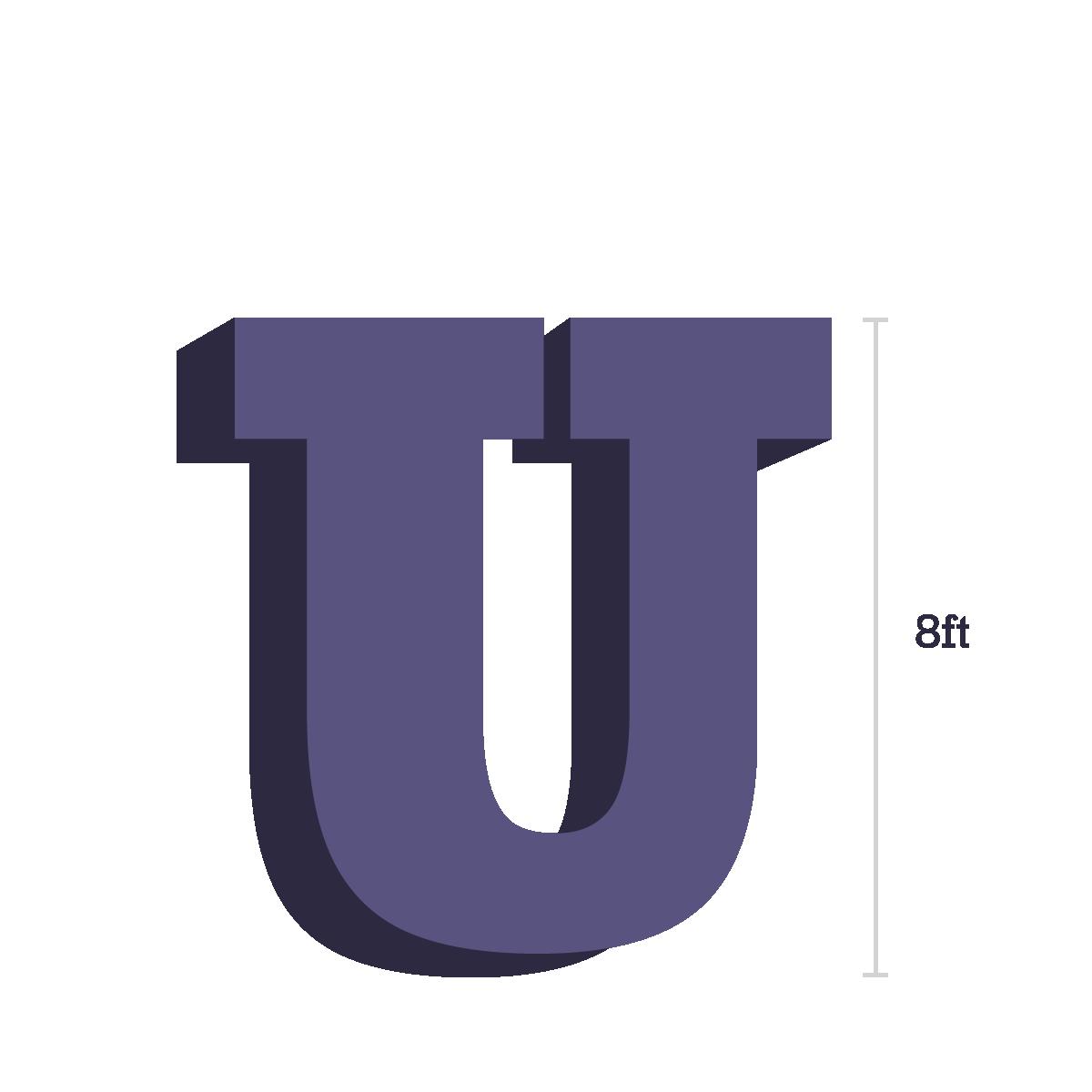 8 foot letter U