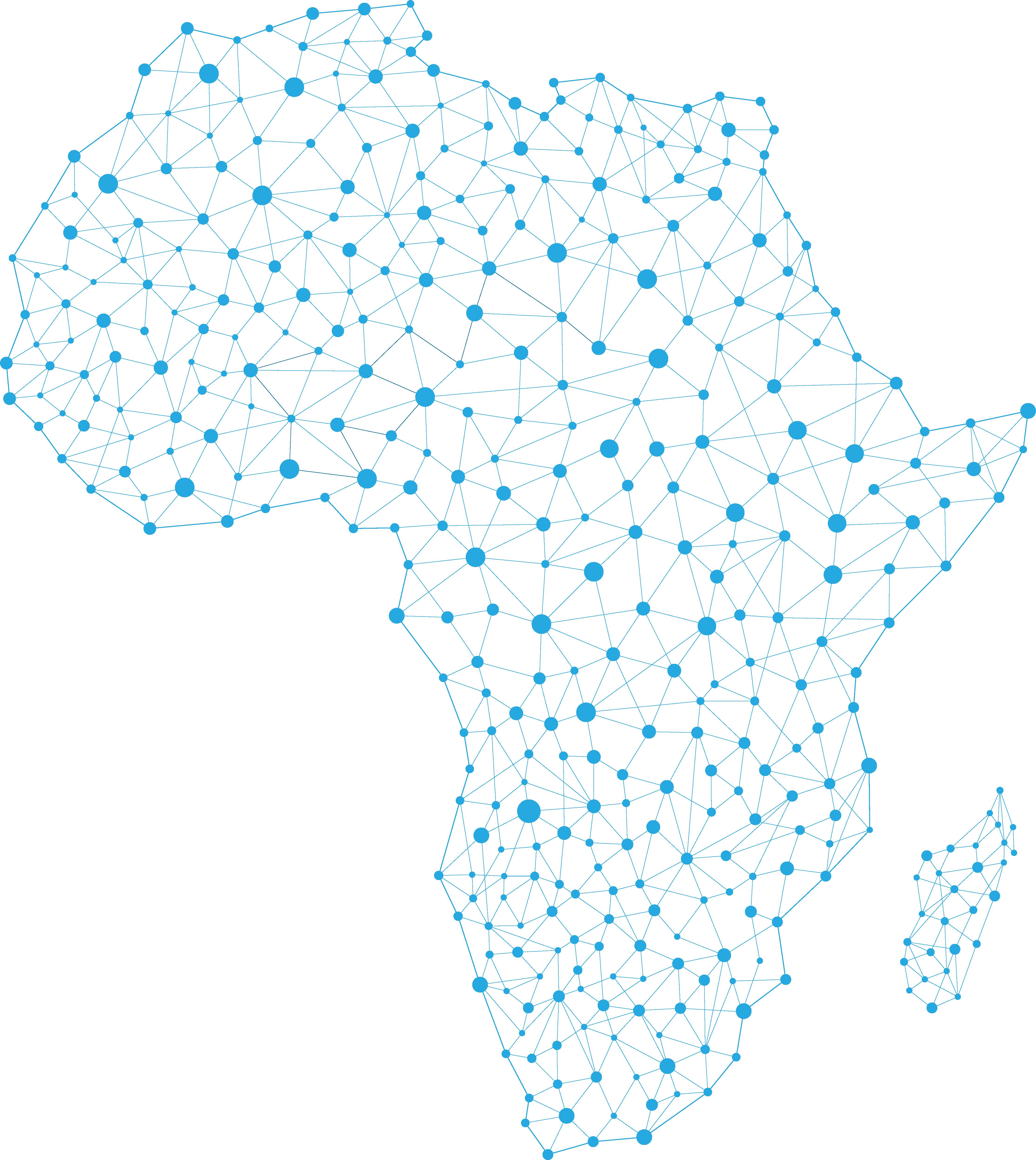 Digital Map Of Africa Africa