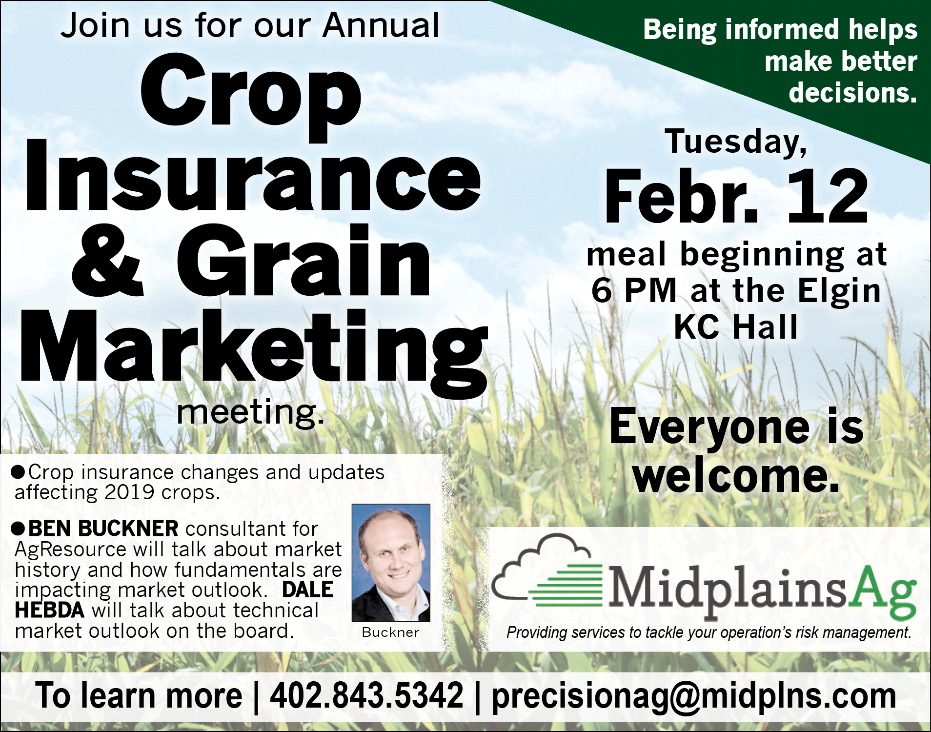 2019 Annual farm update MEETING