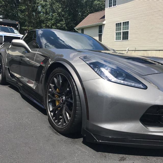 Corvette with ceramic car coating installed
