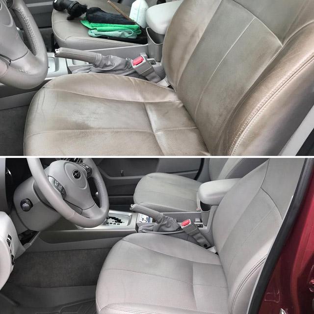 Car Interior After Mobile Detailing