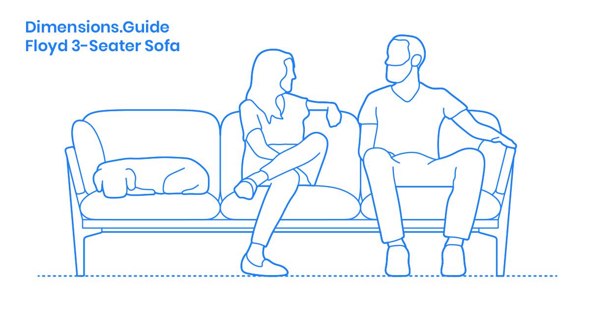 Floyd 3-Seater Sofa Dimensions & Drawings | Dimensions.Guide