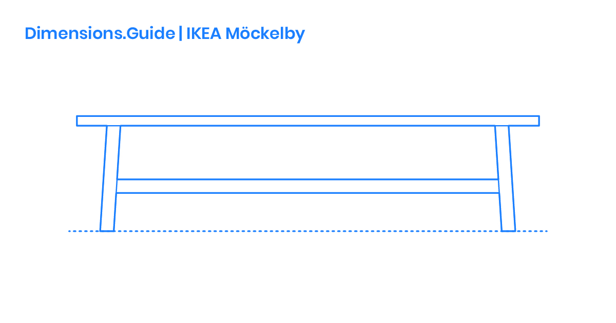 Ikea Möckelby Bench Dimensions Drawings Dimensionsguide