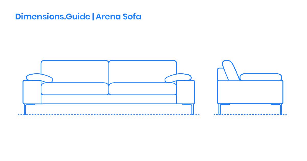 Arena Sofa Dimensions Drawings Dimensions Guide