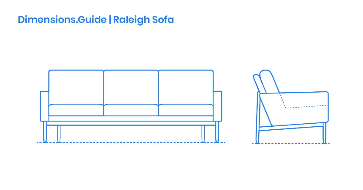 Raleigh Sofa Dimensions Drawings Dimensions Guide