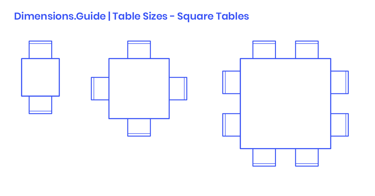 Square Table Sizes Dimensions  U0026 Drawings