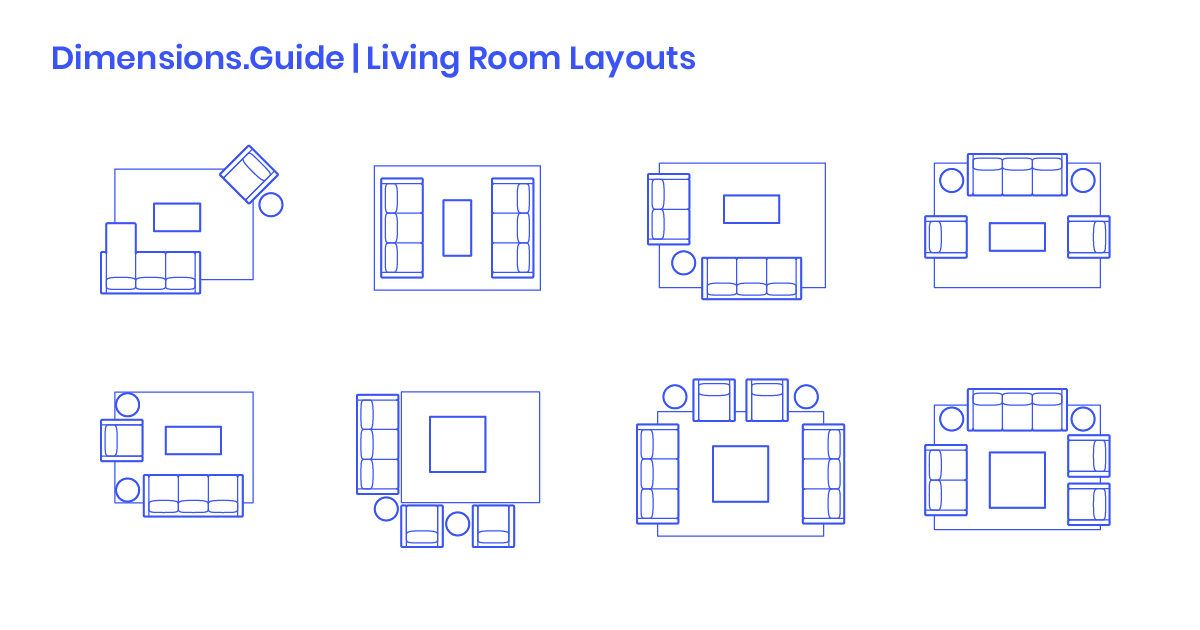 living room layout dimensions | Living Room Layouts Dimensions & Drawings | Dimensions.Guide