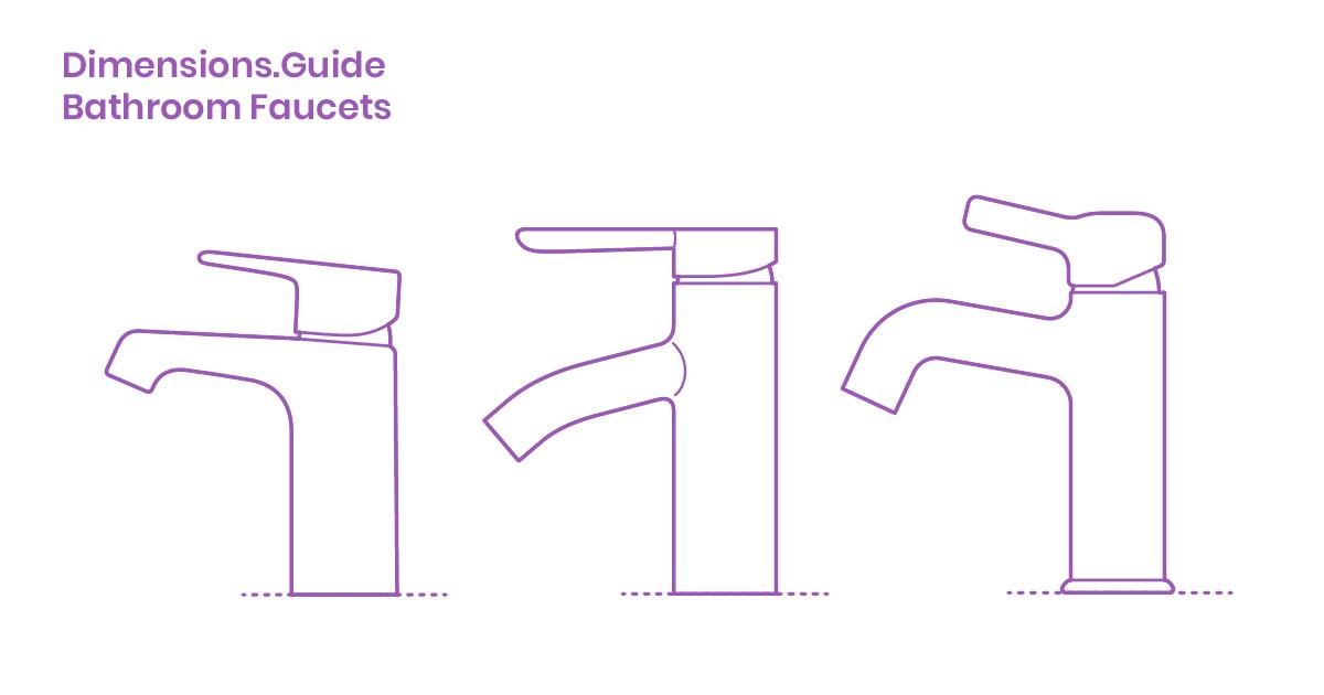 Bathroom Faucets Dimensions & Drawings