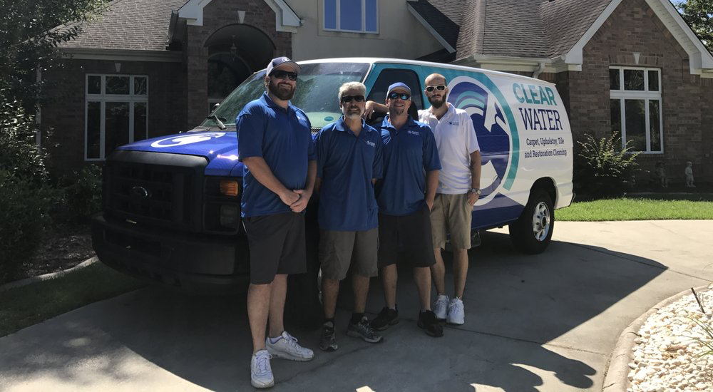 clear water carpet cleaning team