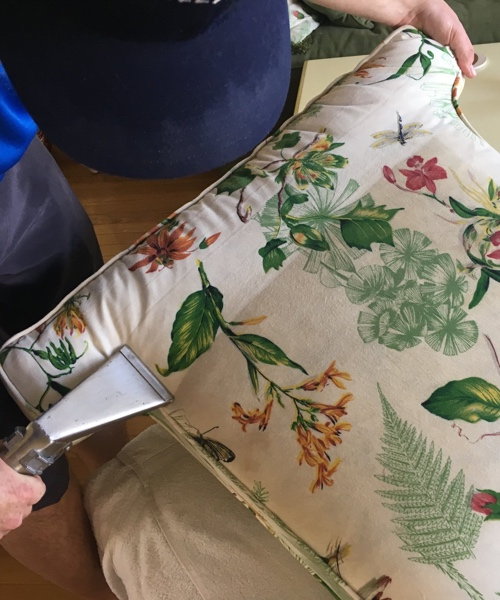 cleaning upholstery for a couch pillow