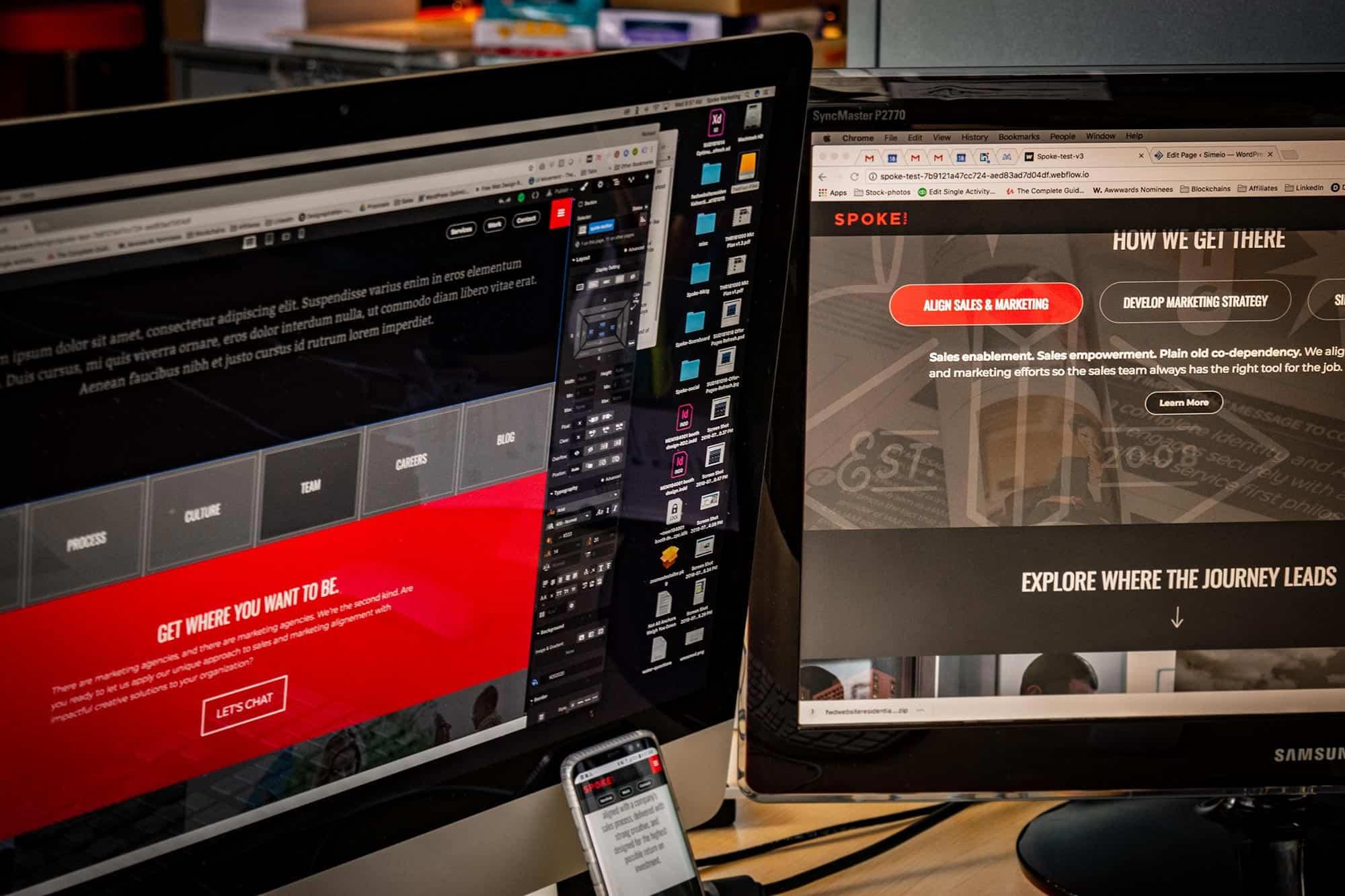 spoke marketing interactive design responsive