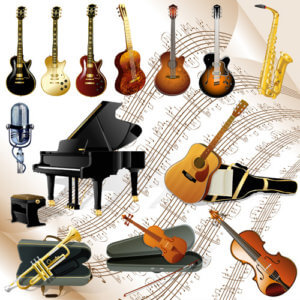 a lot of different musical instruments